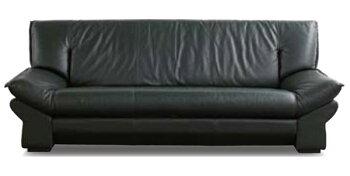 本革張り3人掛椅子ソファー日本製