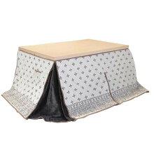 ダイニングこたつ布団長方形105×75コタツ用クローバー105ハイタイプ高脚用薄掛け布団