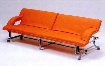 折りたたみベット&ソファーベッドオレンジ色