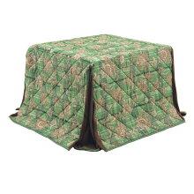ハイタイプこたつ布団/ダイニングコタツふとん小型長方形90×60巾薄掛け布団FH-6420-90×60GR(グリーン色)ハイタイプ