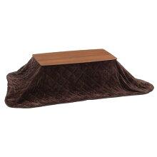 こたつ+布団セット105幅長方形コタツテーブル掛け布団付モカメラミン化粧合板(ウォールナット柄)