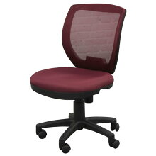 オフィス、ワークチェアハンギングフック付きメッシュ張り回転デスクチェアFP-100WNワイン色