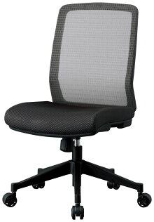 デスクチェアメッシュ張りオフィスチェアーコイズミJG-44381ブラック色