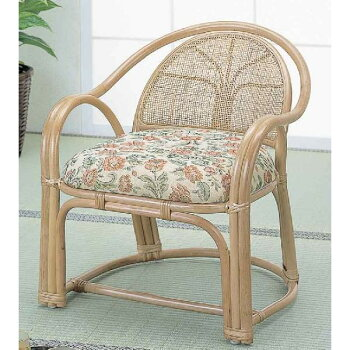 籐(ラタン)アームチェアーハイタイプ/座椅子BL110