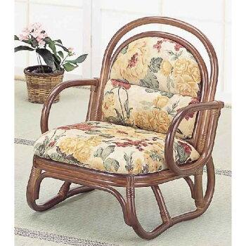 籐(ラタン)アームチェアーロータイプ/座椅子S50B