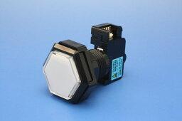 照光式押しボタン薄型40φ六角(リードスイッチ一体型)(ランプ無し)【OBSA-40UR】