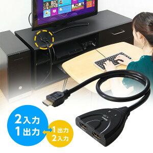 HDMIセレクターHDMI切替器3回路2入力×1出力1入力×2出力双方向PS4対応電源不要3D・フルHD対応