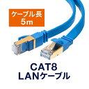 LANケーブル カテ8 カテゴリー8 CAT8 40Gbps 2000MHz フラット エイリアンク