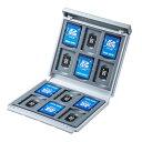 メモリーカードケース SDカード12枚+microSDカード12枚 ハードケース 衝撃吸収 ホワイト SDカードケース マイクロカードSDケース 収納 microSD収納トレー付