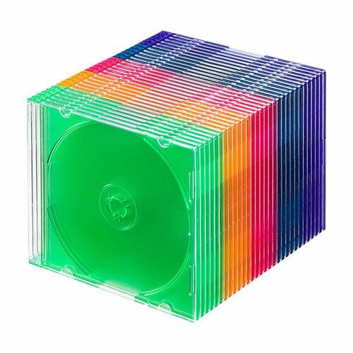 CD・DVD・ブルーレイ ケース(スリム・30枚セット・5色ミックス)画像