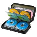 ブルーレイディスク対応セミハードケース 96枚収納 ブラック CDケース 持ち運び