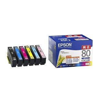 エプソン 純正インク IC6CL80 (6色パック) カラリオColorio対応 インクカートリッジ とうもろこし 【EPSON】【送料無料】