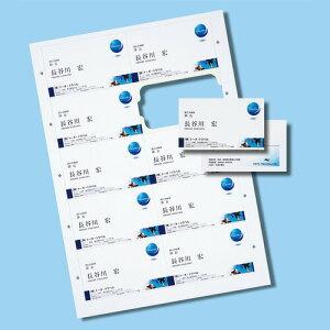 名刺用紙 200枚分 厚手 白地 きれいな切り口 インクジェット [JP-MCC03]【サンワ…