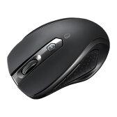 【送料無料】Bluetooth3.0 ブルーLED静音マウス(ブラック)[MA-BTBL28BK]