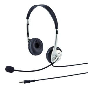 タブレット用ヘッドセット 両耳タイプ スカイプ(Skype)やメッセンジャーに最適なマイク付ヘッ...