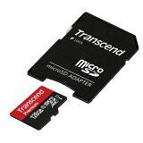 【4月4日値下げしました】Transcend microSDカード 128GB Class10 UHS-1 5年保証 マイクロSD microSDXC SDアダプタ付 最大転送速度60MB/s 400x クラス10 入学 卒業[TS128GUSDU1]【ネコポス専用】【送料無料】