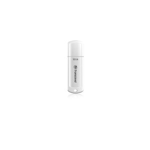 USBメモリ32GBUSB30光沢ホワイトボディのUSBフラッシュメモリーUSBメモリーJetFlash730Transcend