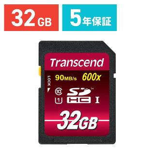 【今だけ送料無料!】【ネコポス専用】Transcend SDカード 32GB Class10 UHS-I Ultimate 最大90MB/s 永久保証 メモリー...