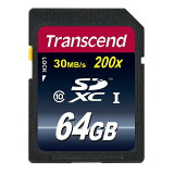 【】【レビューを書いてプレゼントをGET!】SDXCカード Ultimate 64GB 高速Class10(クラス10) SDカード Transcend [TS64GSDXC10]