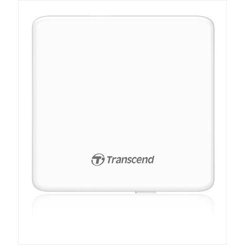 Transcend極薄ポータブルCD/DVDドライブホワイト外付けDVDドライブスリム2年保証ノートパソコンに最適