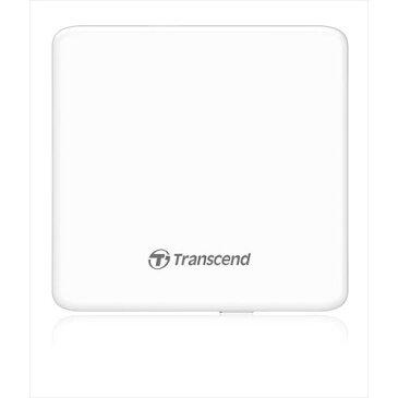Transcend 極薄ポータブルCD/DVDドライブ ホワイト 外付けDVDドライブ スリム 2年保証 ノートパソコンに最適 [TS8XDVDS-W]