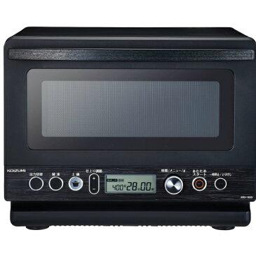 コイズミ 電子レンジ 土鍋付き 18L フラットテーブル ヘルツフリー 炊飯可能 解凍機能 ブラック KRD-182D/K