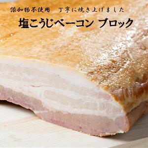 塩こうじベーコン ブロック 国産 食品添加物不使用 無添加 無加水 塩こうじ ベーコン 豚肉 豚 たんば産ポーク グルメ お取り寄せ おうちごはん 200g×2P