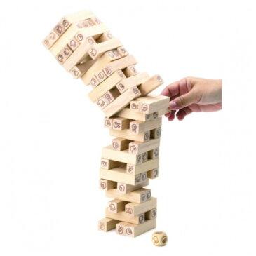 じゃんけんタワー W-370 平和工業 木のおもちゃ/バランスゲーム/積み上げ/じゃんけんゲーム/ファミリー/木製玩具/知育玩具/4歳/5歳/6歳/7歳/8歳/お誕生日/クリスマス/プレゼント/男の子/女の子