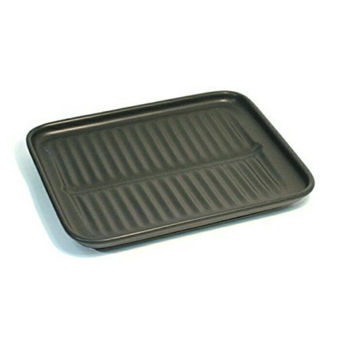 オーブントースター用唐揚げ陶板 34-06-06-SE 四日市 万古焼 25×20×2センチ 遠赤外線効果 美味しい