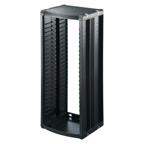組立て式 CDラック 厚み10mmのCDケースを26枚収納 ブラック