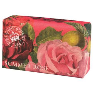 English Soap Company イングリッシュソープカンパニー KEW GARDEN キュー・ガーデン Luxury Shea Soaps シアソープ Summer Rose サマーローズ【王庭】【シアバター】【スタイリッシュ】【デザイン】