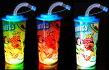 ディズニーフラッシュストローボトル6個セット(1個250円税別)【縁日夏祭りイベント景品子供会パーティー光るボトルストロー付きおもしろ雑貨】