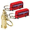 [5000円以上で送料無料] イギリスお土産 | ロンドンバス&ビッグベン キーホルダー 3個セット【181158】