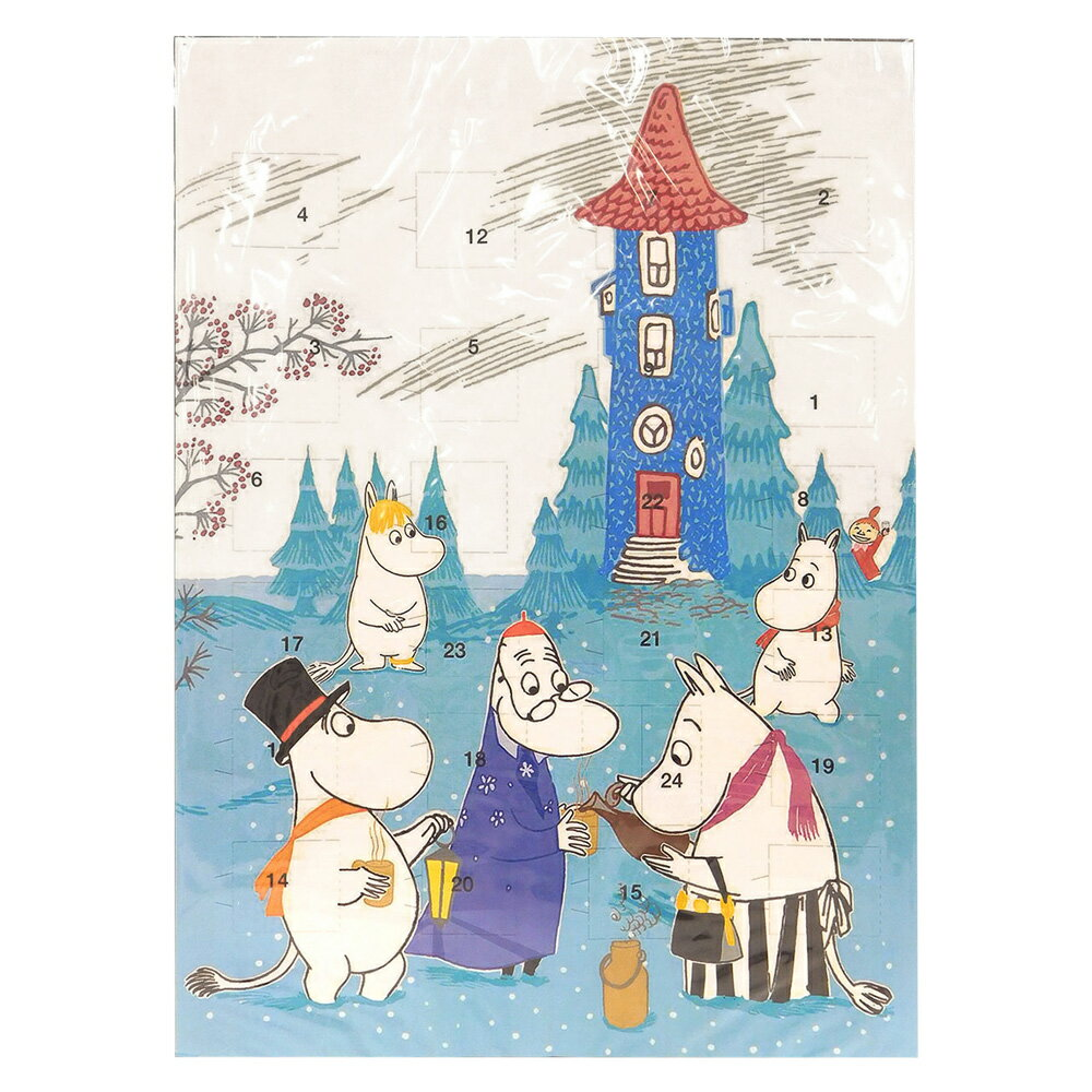 [5400円以上で送料無料][クリスマス] ムーミン Moomin カウントダウンカレンダー (アドベントカレンダー) チョコレート【880049】