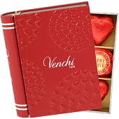 ヴェンチVenchiバレンタインミニブック缶チョコレート