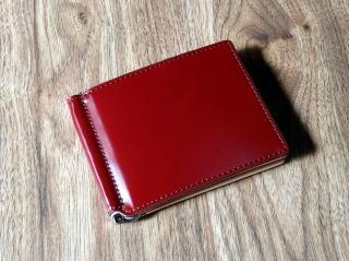 マネークリップ(薄型財布)/日本で唯一のコードバンタンナー・新喜皮革社製コードバン(馬尻革)×本ヌメ革札ばさみ10P07Feb16
