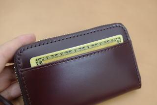 コードバン(馬尻革)×本ヌメ革ラウンドファスナー小銭入【fa090701】