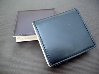コードバン(馬尻革)×本ヌメ革BOX型小銭入