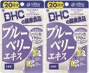 DHC ブルーベリーエキス 20日分 40粒2個 カロテノイド ビタミンB リーゴールド ブルーベリー サプリメント ダイエット タブレット 健康食品 人気 ランキング サプリ 即納 送料無料 健康 美容 パソコン 仕事 海外