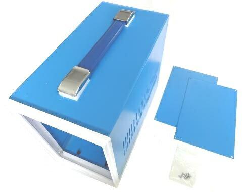 <訳あり キズへこみあり><プラスチックケース通販・販売>210×140×270(mm)汎用電子基板収納用スチールケース・スチール筐体Steelcase AU-12<box-207>
