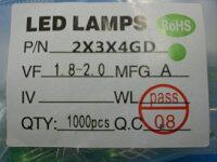 <2×3×4mmサイズLED><1.8V〜2.0V電圧LED緑>10本入<led-121>