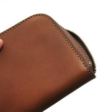 札幌革職人館ラウンドファスナー財布