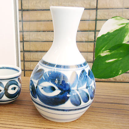 中善窯有田焼巻小花徳利,とっくり,カフェ,人気,食器,陶器