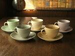 なごみカラーのカップ&ソーサー(5色選択)