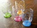 サラーミキで買える「【アウトレット】ワンワン小さな高台グラスカップ(4色選択)」の画像です。価格は82円になります。