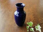 【アウトレット】小さなルリ色花瓶サギ型※難あり