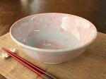 ピンク吹き兎と桜の19.5cmラーメン丼