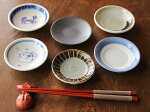 【アウトレット】ごちゃまぜ白以外の3寸小皿(約9cm〜約10cm)