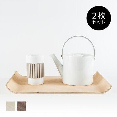 当店通常価格¥5,400|お得なセット販売●b2c ノンスリップウッドトレー M 36×26 2枚セット