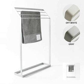 シンプルなデザインのタオルスタンド
